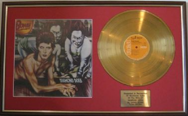 DAVID BOWIE  - 24 Carat Gold disc & cover - DIAMOND DOGS